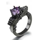 Vintage Design Ring Studded with Purple Diamond