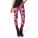 Women's Digital Print Stretchy Ankle Leggings Tights