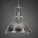 18'' W Nickel 1 Light Industrial Dome Metal Indoor Pendant