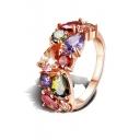 Mona Lisa Fashion Colorful Zircon Crystal Ring