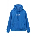 New Design Oversize Letter Embroidery Long Sleeve Drawstring Hoodie