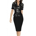 Women Sexy Knee Length Bodycon Wear to Work Cocktail Pencil Dress