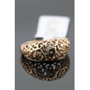 Cutout Floral Details Sterling Rose Gold Ring