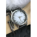 Fashion Retro Style Hibiscus Floral Pattern Watch