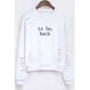 New Style To Be Back Round Neck Sweatshirt with Cut Out Detail