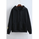 I'm Okey Smile Face Hood Long Sleeve Hoodie with Front Pocket