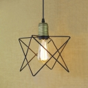 Cage Style Indoor Pendant Light with Diamond Cage