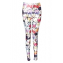 Women's Cute Digital Print Ankle Length Skinny Leggings
