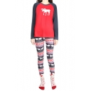 New Design Christmas Style Women's Pullover Long Sleeve Top Tribal Print Pants
