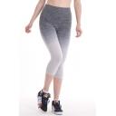 Basic Solid Footless 3/4 Length Leggings / Capri Leggings