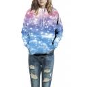 Unisex 3d Galaxy Printed Kangaroo Pocket Hooded Sweatshirt Hoodies