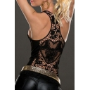 Women Crochet Hollow Out Lace Back Tank Top Clubwear