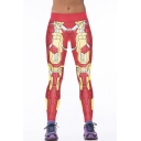 Womens Hot Sale Stylish Robot Design High Waist Leggings Pants