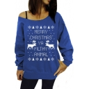 Womens Merry Christmas Ya Filthy Animal Printed Sweatshirts