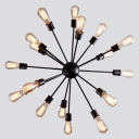 Atomic Style 18-Lt Multi Light Pendant Chandelier