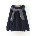 Women's Fashion Tie Front Long Sleeve Winter's Warm Hoodie Coat