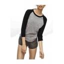 Women's Tri-Blend 3/4-Sleeve Raglan Tee Shirt