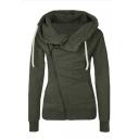 Women's Long Sleeve Autumn Zipper Sweatshirt Hoodies Coat