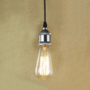 Simple One Light Mini Pendant in Chrome Finish