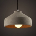 Vintage Style Cement Indoor 11 Inch Wide Mini Pendant with Dome Shade
