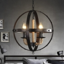 Industrial Metal Mini Chandelier with Four Light