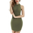 Women's Halter Backless Bandage Dress / Sexy Mini Dresses
