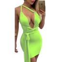 Women's Sexy Multi Wear Bodycon Bandage Tank Midi Party Dress Clubwear