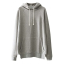 2016 New Hooded Raglan Long Sleeve Plain Tunic Hoodie with One Kangaroo Pocket