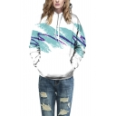 Unisex Simulation Printing Pocket Hooded Sweatshirt