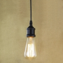Single Bulb Style Black Finished Hanging Light