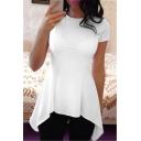 Women's Super Comfy Loose Fit High Low Peplum Tunic Top Shirt