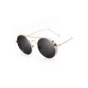 Fashion Round Sunglasses Thick Trim Sunglasses for Unisex