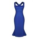 Women Summer Sleeveless Long Club Dresses