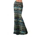 Women Fashion Multicolored Print High Waisted Beach Maxi Skirts Long Skirt