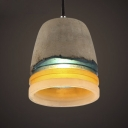 Rainbow Style Cement and Resin Shade Mini Pendant in Cylinder Shape
