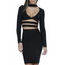 Women's Sheer Mesh Striped See Through Bodycon Cocktai Party Maxi Dress