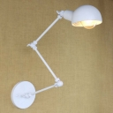 Chic White Industrial Single Light Wall Light for Study