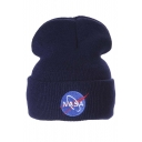 Popular Embroidery NASA Outdoor Knitted Hat