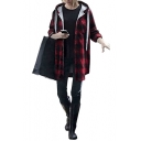 Women Long Sleeve Button Up Plaid Flannel Shirt Jacket