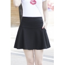 Women's Winter High Rise A-Line Plain Mini Skirt