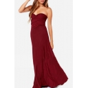 Sexy Off the Shoulder Plain Bandage Maxi Party Dress with Multiple Means of Dressing Up