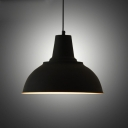 Vintage Style Dome Shape Black Finished Indoor Hanging Light