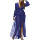Women's Novelty Jersey Night Club Craving Maxi Long Dance Dress