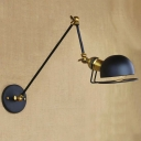 Industrial Classic Bedroom Wall Lamp Reading Light in Black