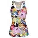 Hot Fashion Cartoon Printed Sleeveless T Shirt Vest Tank Tops