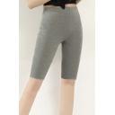Women's Modal Over The Knee Length Smooth Short Plus Size Capri Leggings