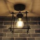 Square Style  Indoor Semi Flush Ceiling Light