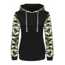 Women's Camouflage Printed Long Sleeve Hooded Pullover Hoodies Sweatshirt