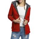 Women's Winter Thicken Zip Up Fleece Lined Hoodie Jacket Outerwear Coat