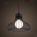 Round Slatted Style Indoor Mini Pendant Light